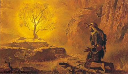 Moses wandered for 40 years before meeting God at the burning bush