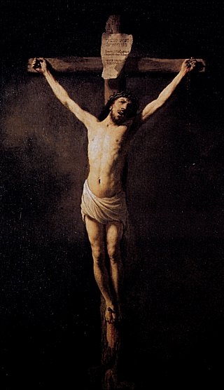 Rembrandt sees himself in Christ hanging on the cross
